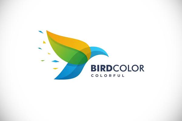 Bird Color Gradient Logo