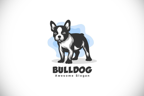 French Bulldog Color Mascot Logo