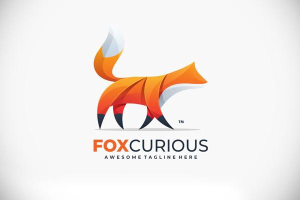 Abstract Fox Color Logo Template