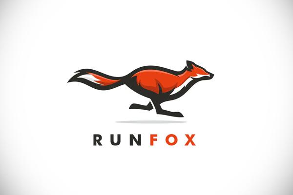 Fox Run Mascot Logo