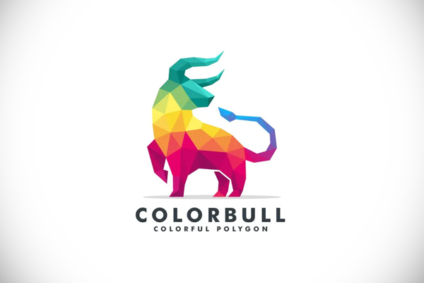 Bull Poly Colorful Logo