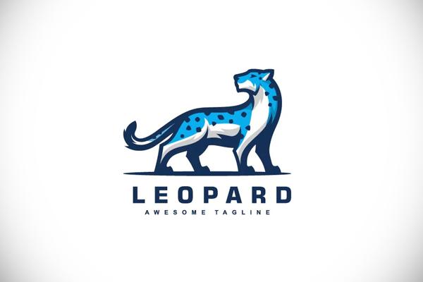 Snow Leopard Color Mascot Logo