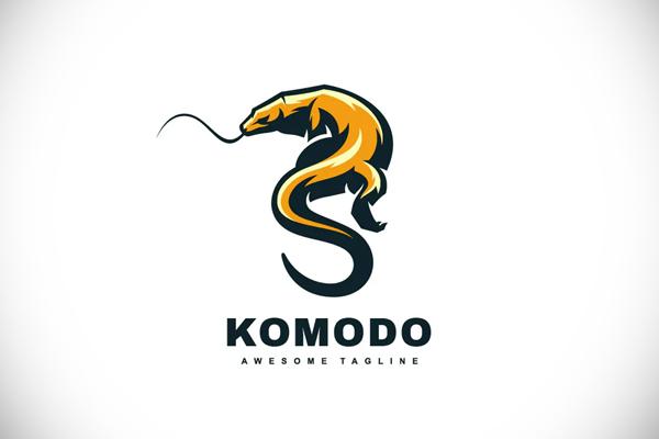 Komodo Color Mascot Logo