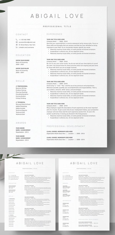 Clean Resume Pack | Word