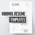 Post thumbnail of 25 Clean Minimal Resume Templates Design