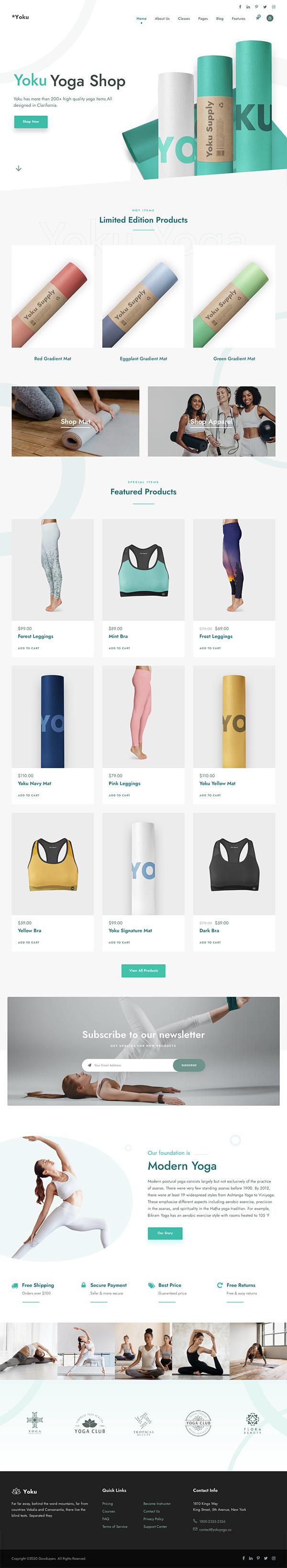 Yoku - Yoga Studio & Ayurveda WordPress