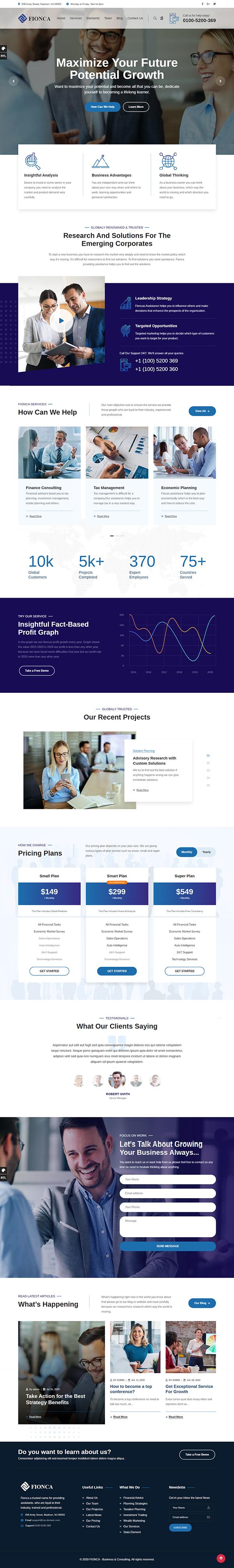 Fionca - Business & Finance WordPress Theme