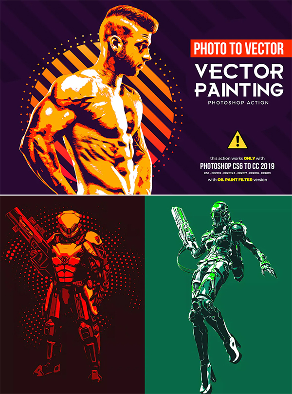 Vector Painting CS6 & CC+ Photoshop Action