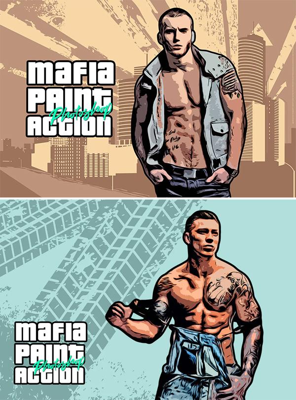 Mafia Painting Art CS6 & CC+ Photoshop Action