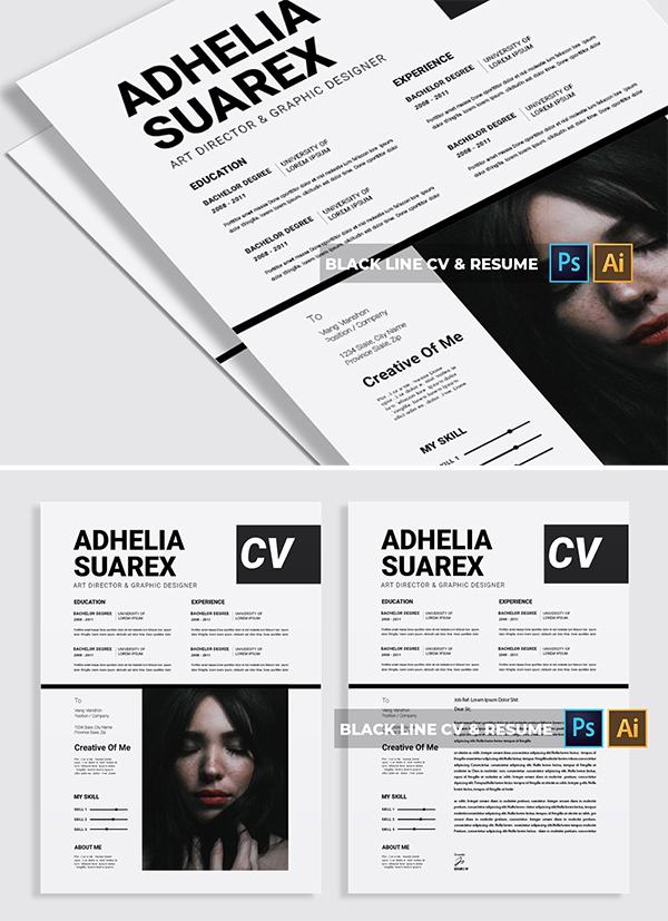 Black Line   CV & Resume