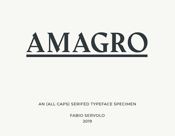 Amagro Serif Free Font