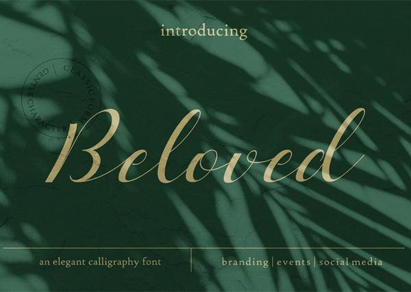 Beloved Romantic Script Free Font