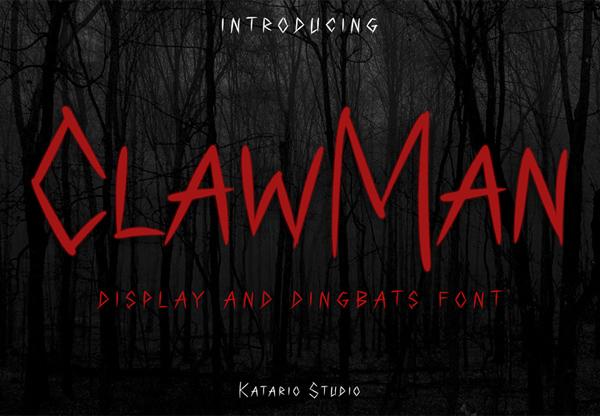 ClawMan Free Font