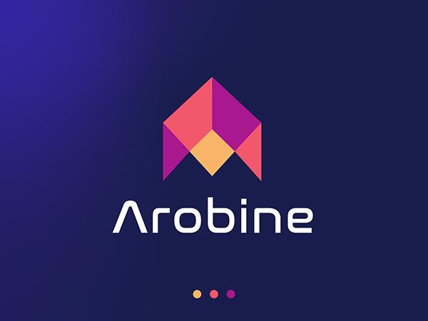 Arobine Colorful Logo Design