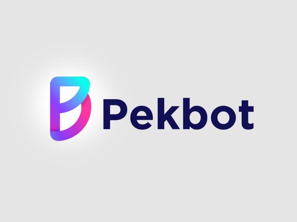 Pekbot Colorful Logo Design