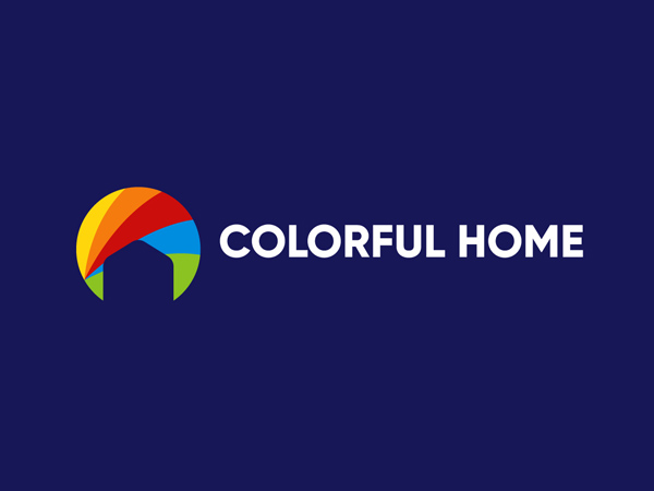 Colorful Home Logo Design