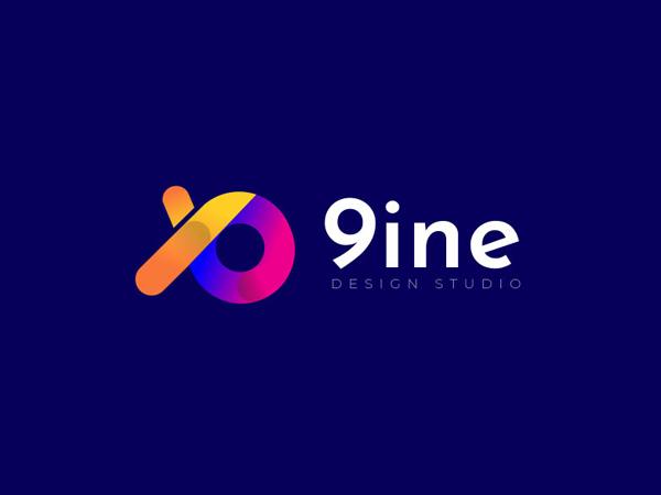 9ine Colorful Logo Design