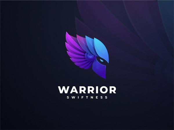 Warrior Colorful Logo Design