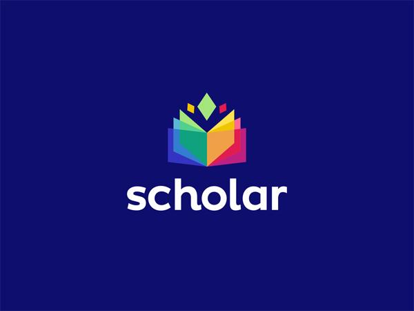 Scholar Colorful Logo Design