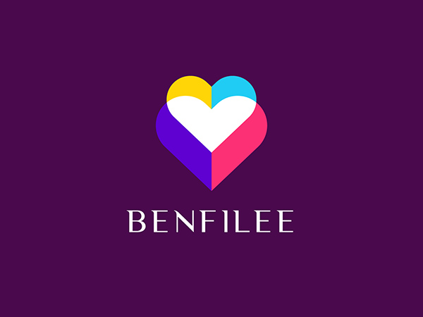 Colorful Love Logo Design