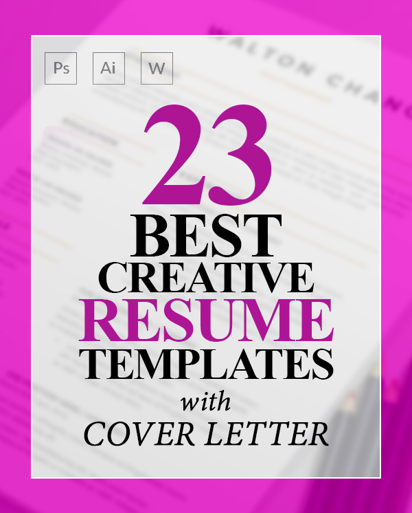 23 Creative Resume Templates with Cover Letters