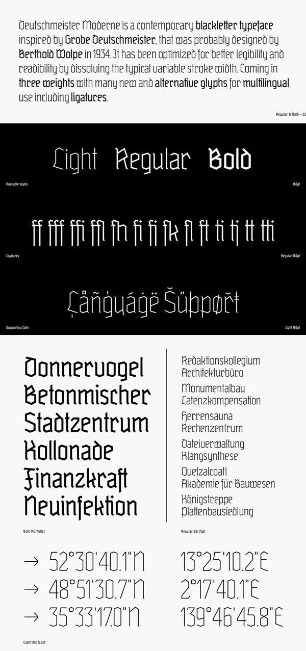 Deutschmeister Moderne Font Letters