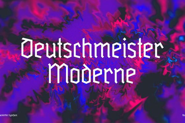 Deutschmeister Moderne Free Font