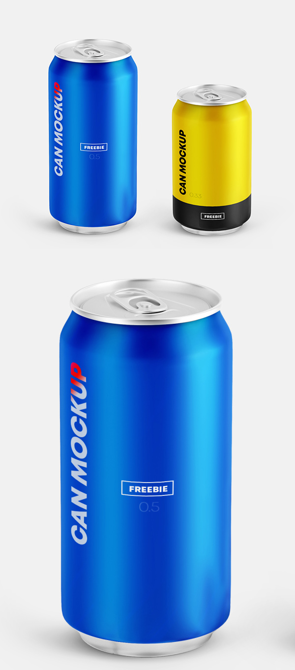 Free 2 Can Mockups PSD