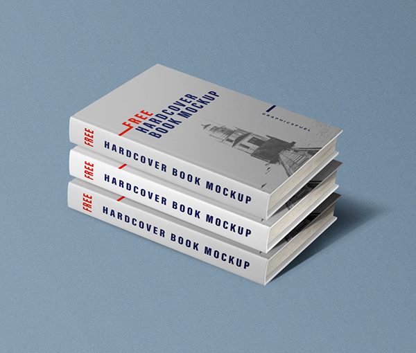 Free Hardcover Book Mockups PSD