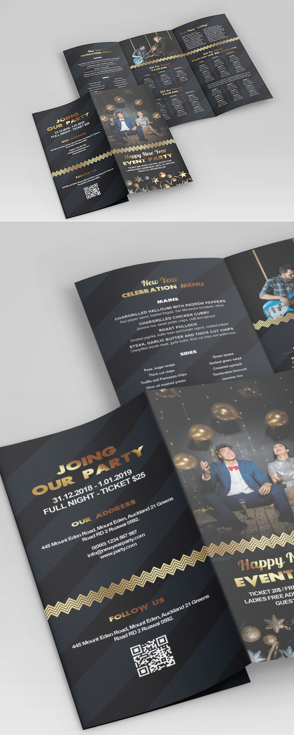 Free Tri-fold (Front / Back) Brochure Template