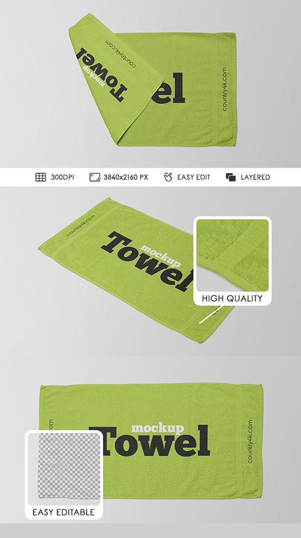 Free Towel Mockups PSD