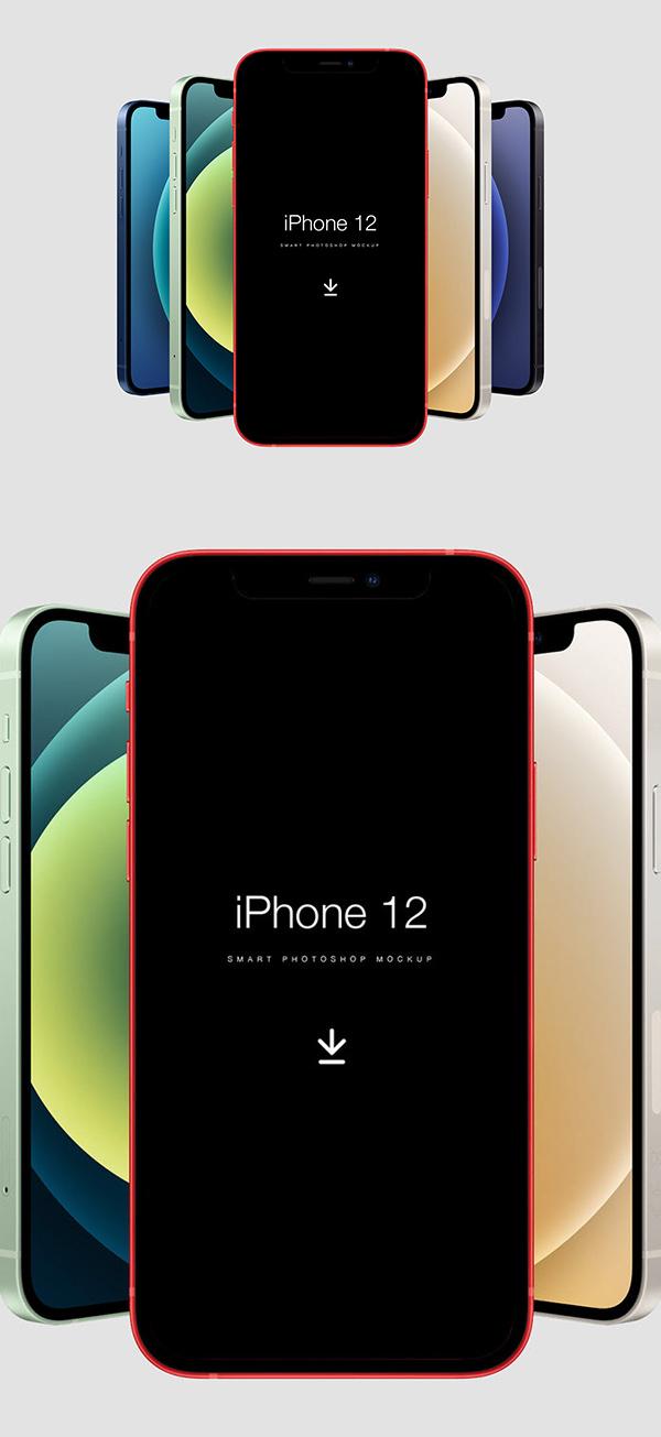 Free iPhone 12 Free Mockup