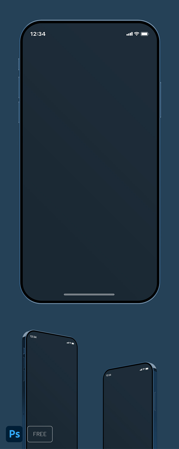 iPhone 12 Mockup Free to Download