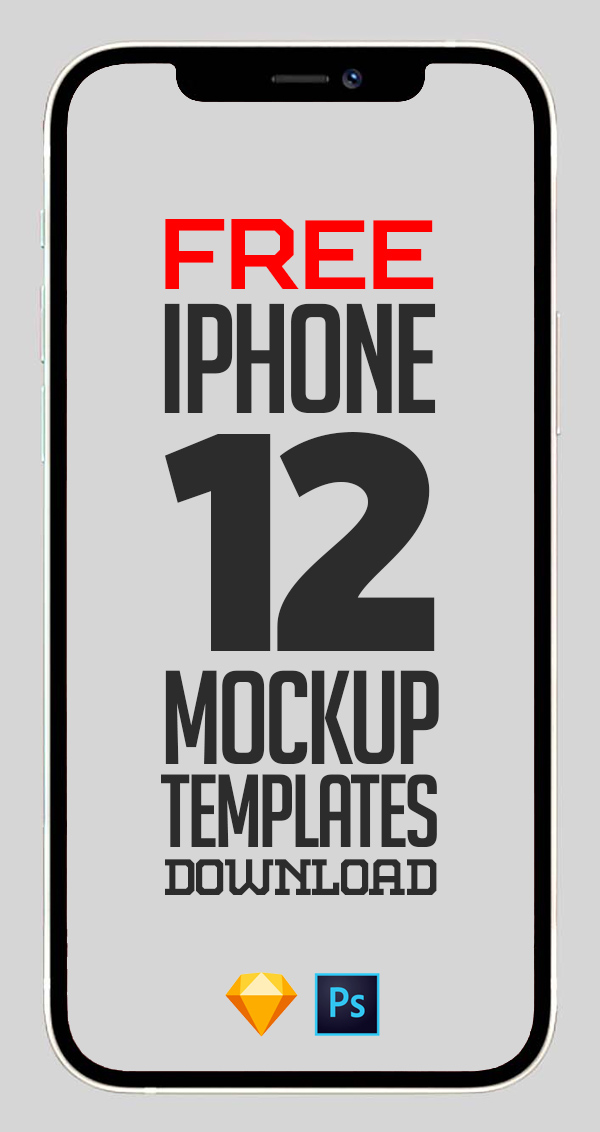 Free Mockups: iPhone 12, iPhone 12 Mini and iPhone 12 Pro Max Mockup