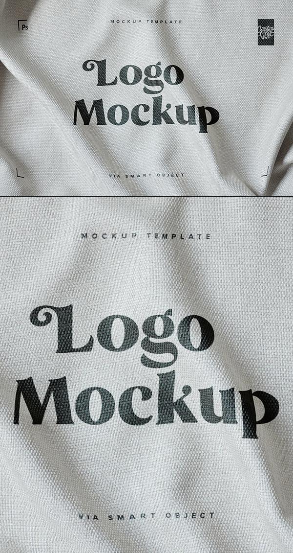 Free Fabric Print Logo Mockup