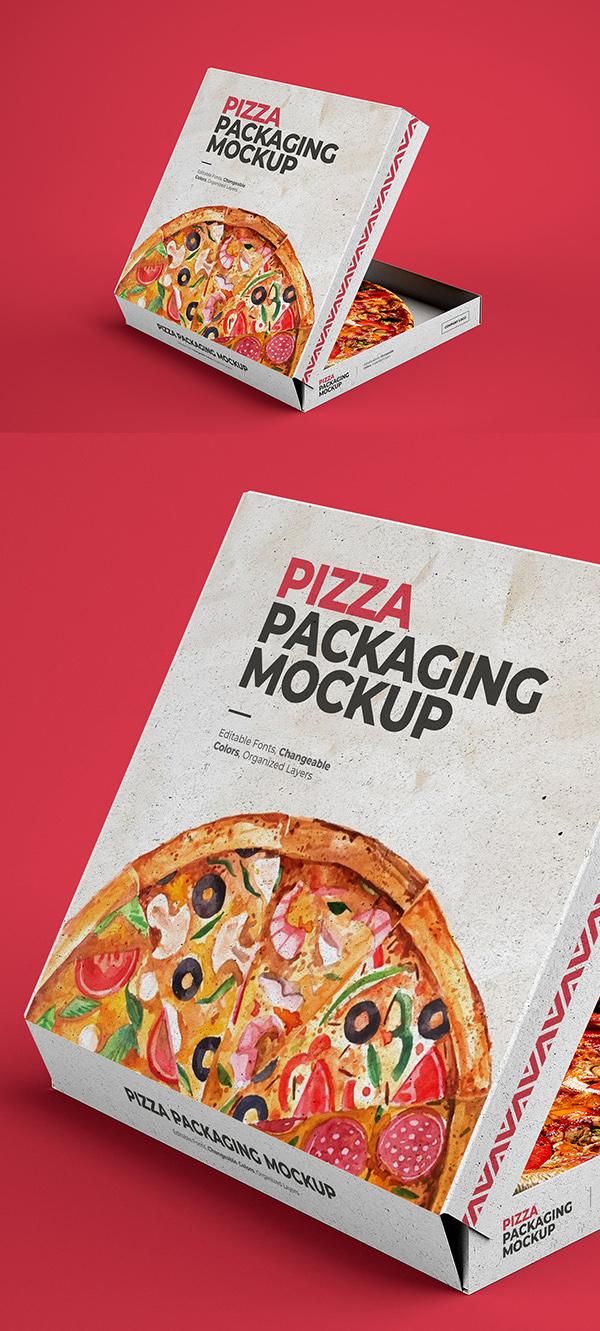 Pizza Box Photoshop Mockup