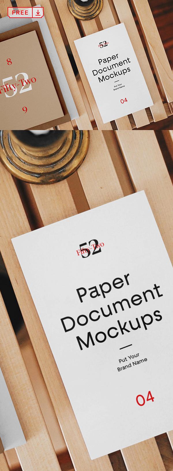 Free Paper Document Mockups