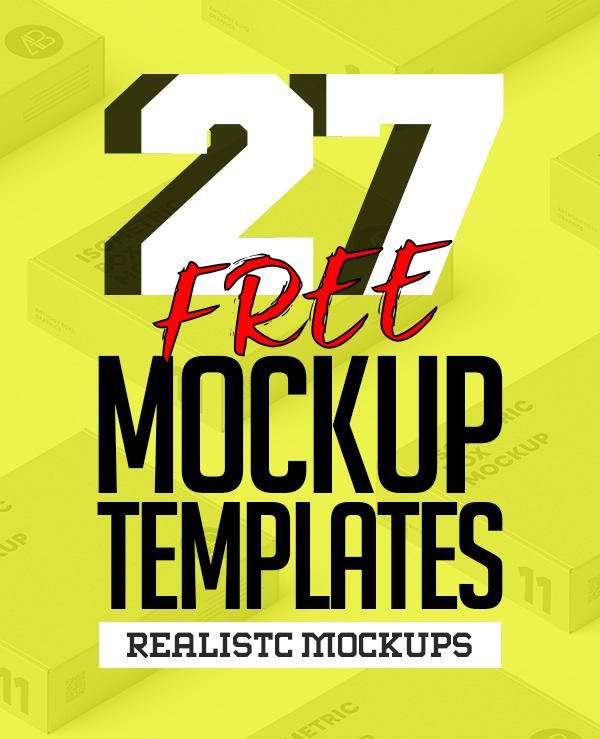Free PSD Mockups: 27 New MockUp Templates