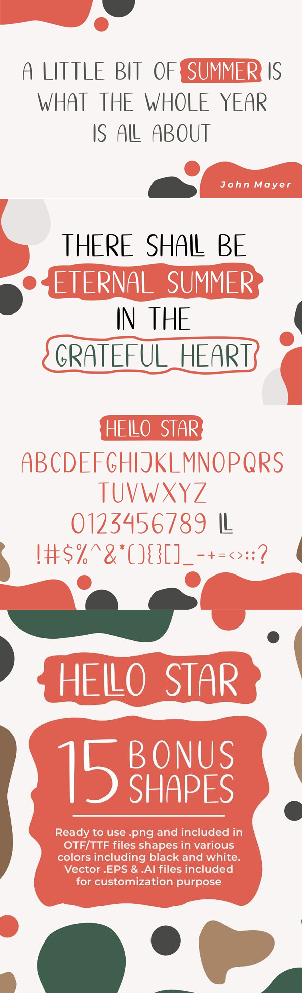 Hello Star Font Letters