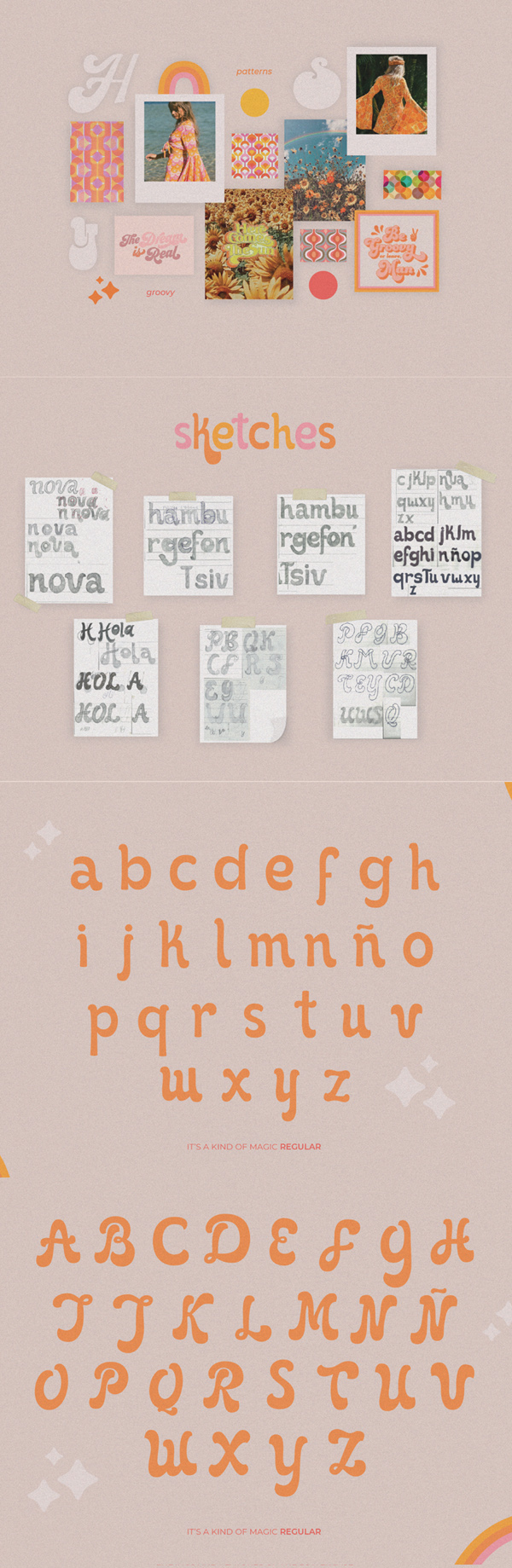 It's Kind of Magic Retro Font Letters