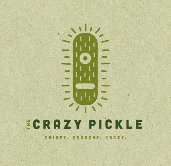 The Crazy Pickle Logo by James Strange