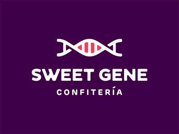 Sweet Gene Confiteria Logo Design by Dalius Stuoka