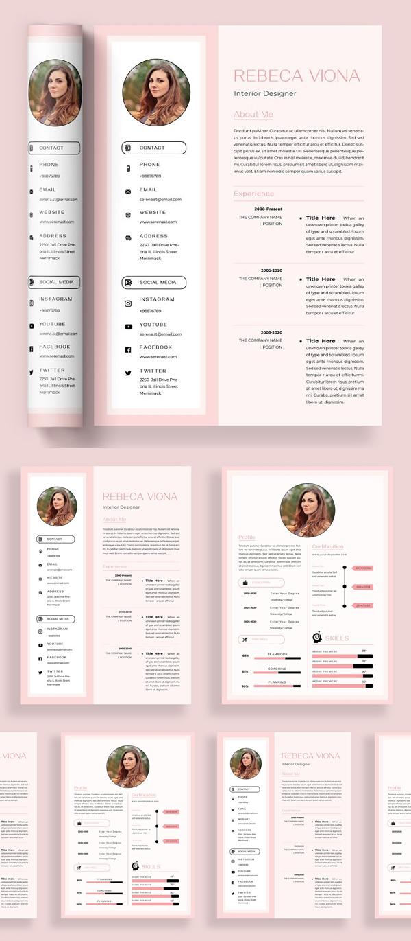 Presented Print Template for Resume/ CV