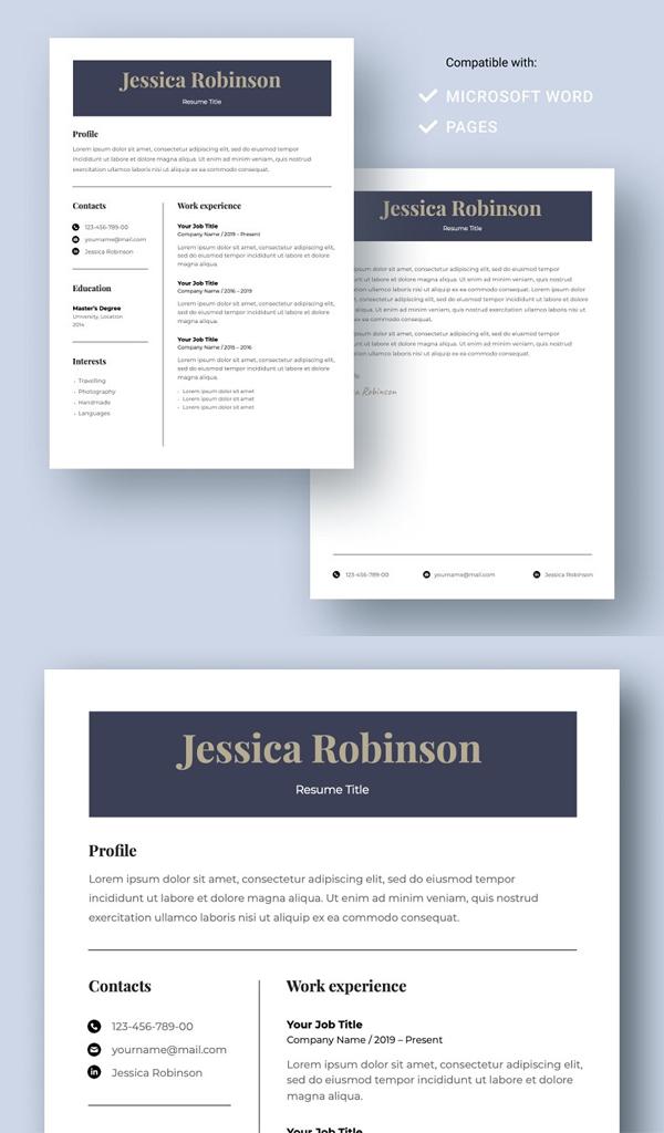 Attractive Resume Template CV