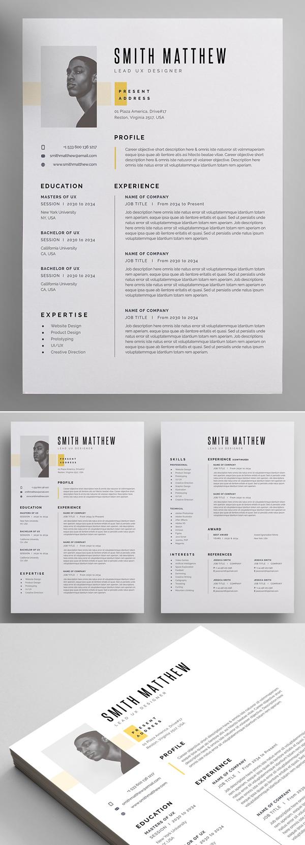 Simple Resume / CV Template