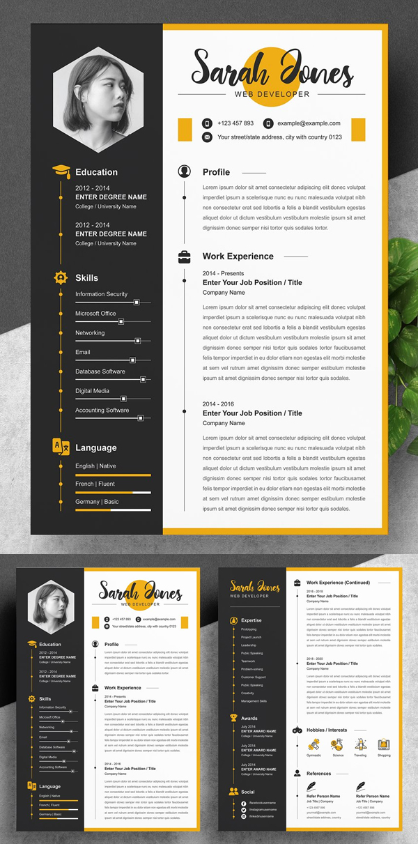 Best Professional Creative Resume / CV