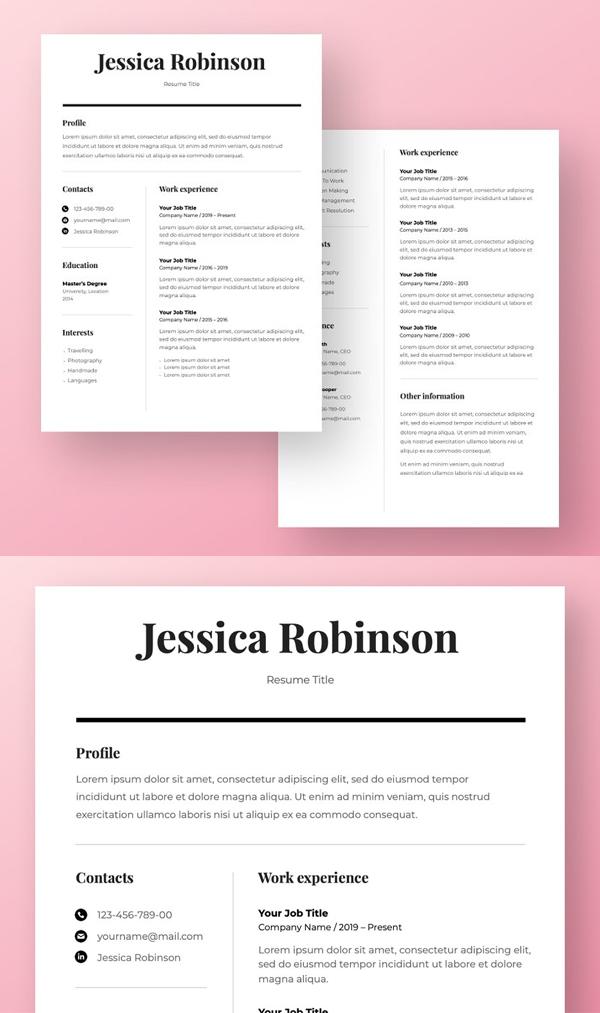 Elegant Resume Template CV