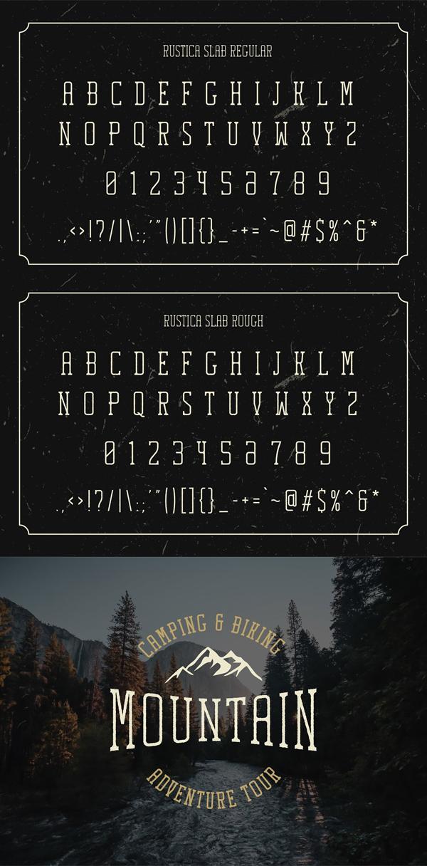 Rustica Slab Font Font Letters