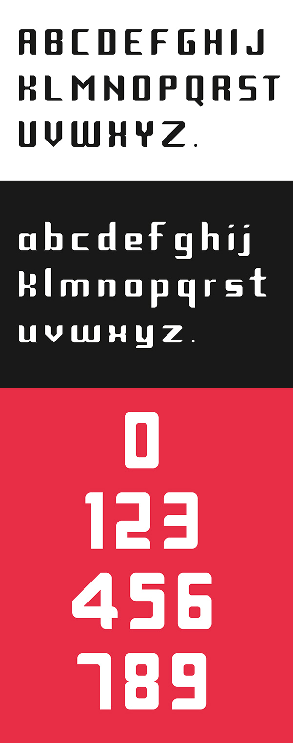 Trips Modular Font Letters
