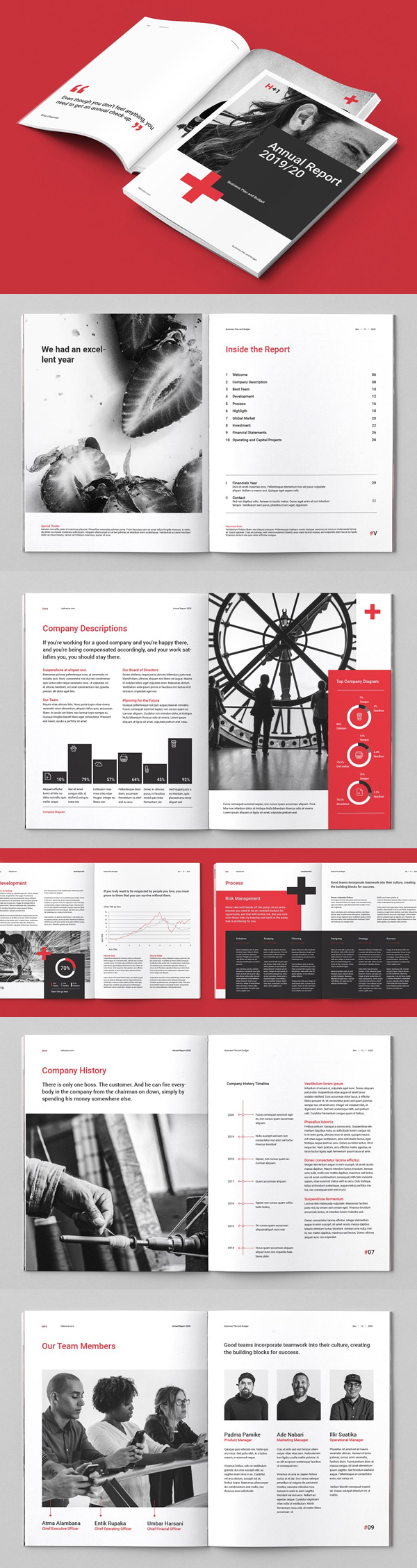 Clean Annual Report Template